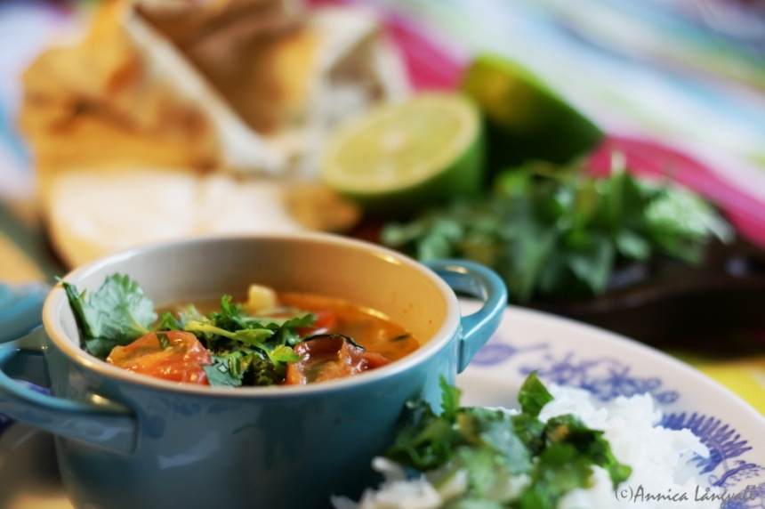 Kikärtsgryta från Kerala vegetariskt gryta recept köttfri måndag