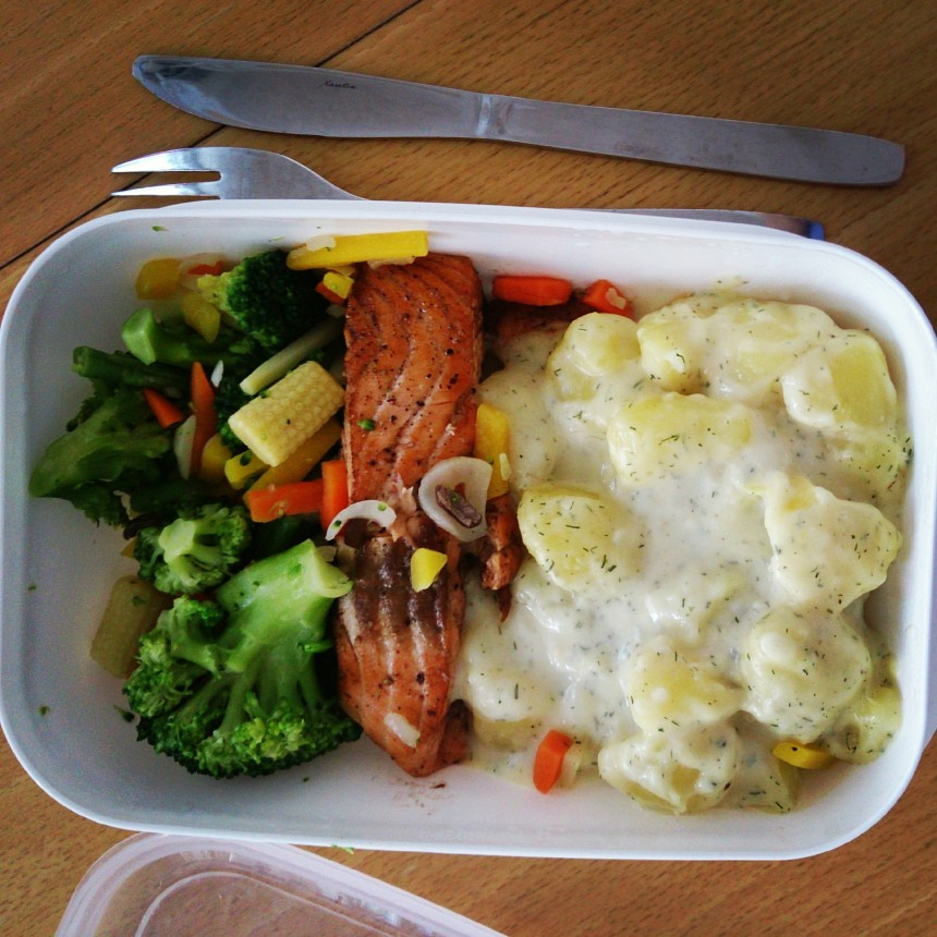 matlåda lax dillstuvad potatis