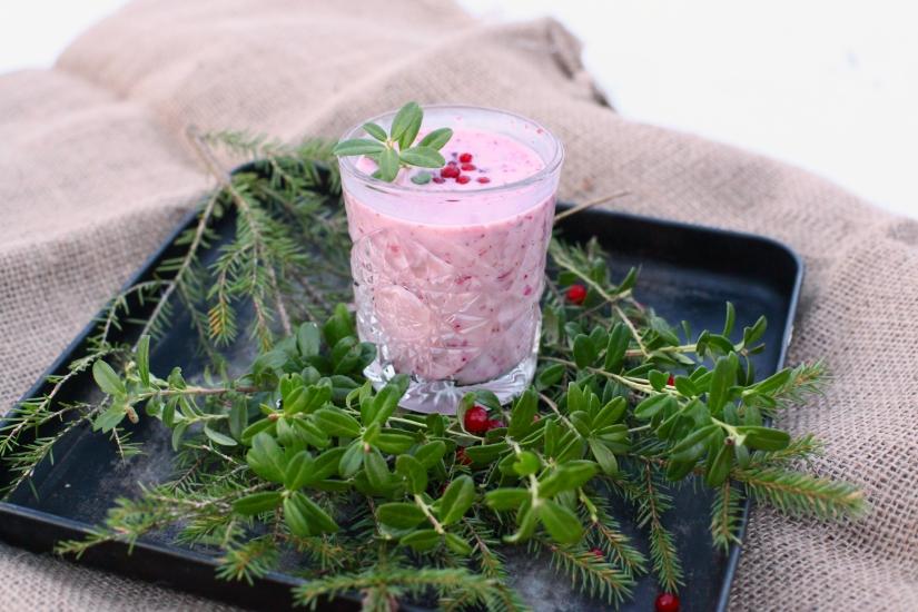 Mjölkfri smoothie lingon nyttig smoothie lingon superbär