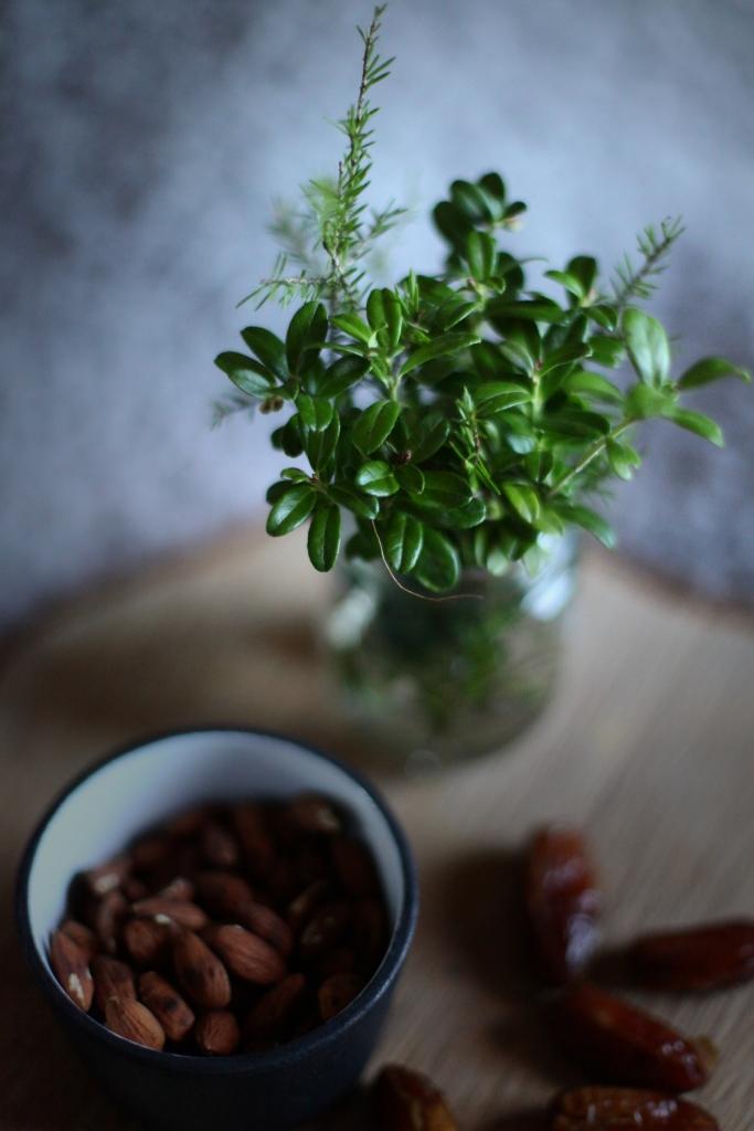lingonris och mandel