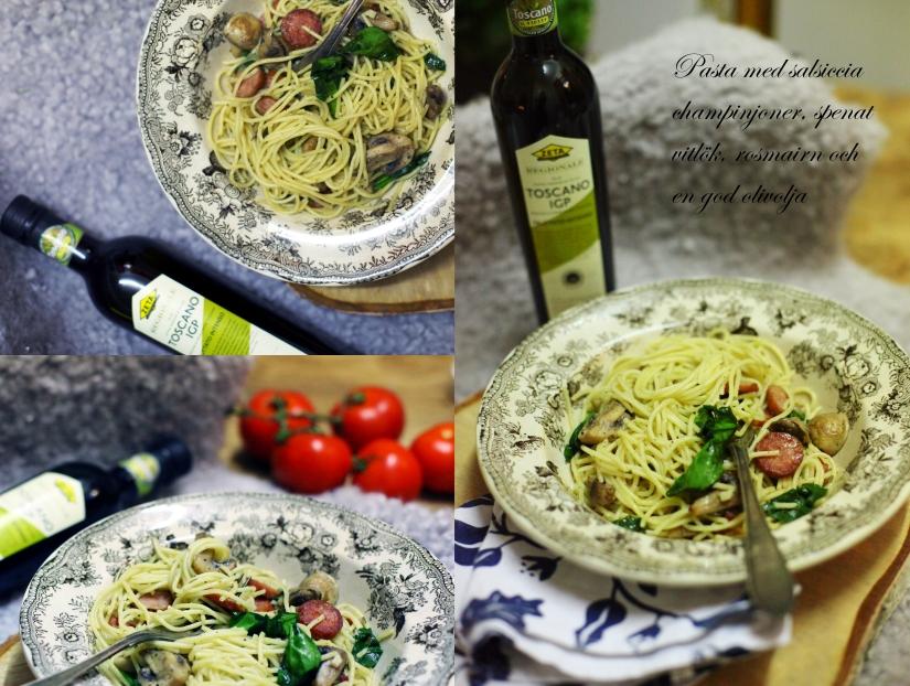 pasta med salsiccia och toscano igp
