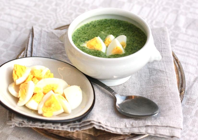 spenatsoppa med ägg recept dietist näringsberäknat