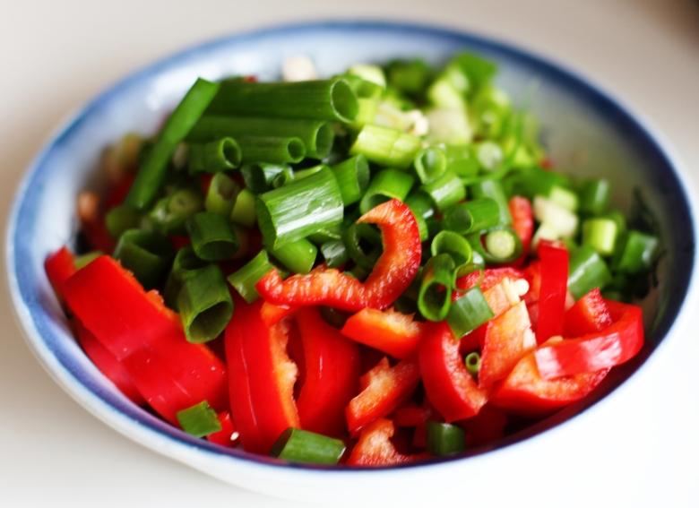 hackade grönsaker salladslök paprika dietistblogg matsmart