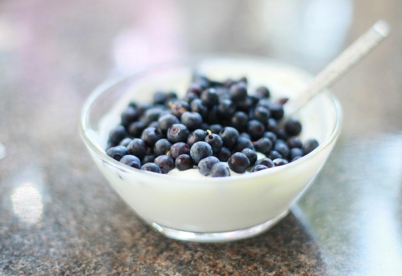 kvarg med blåbär