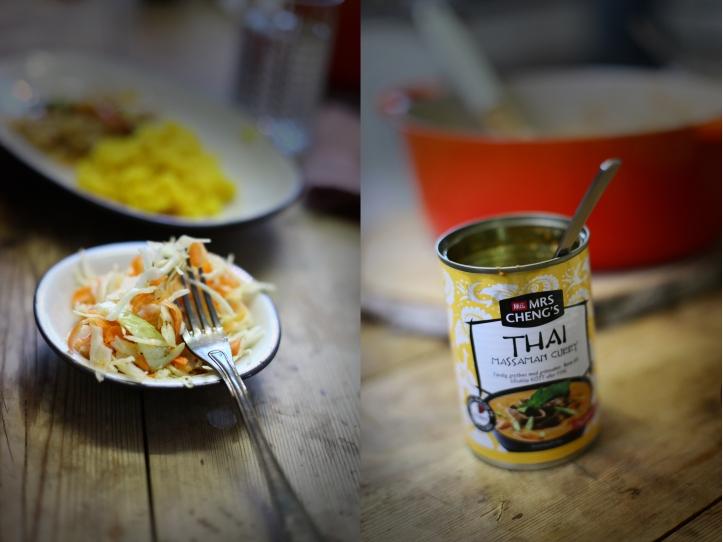 vitkålssallad och grytbas curry