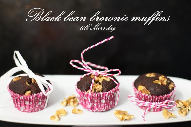 black bean brownie muffins med svarta bönor till mors dag