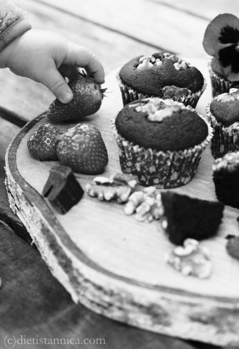 black bean brownie muffins 10 black and white