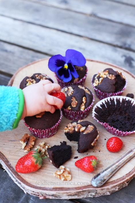 black bean brownie muffins 8 log
