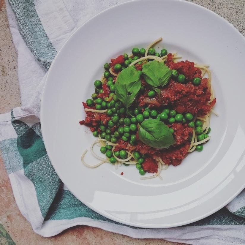 vegansk pasta bolognese