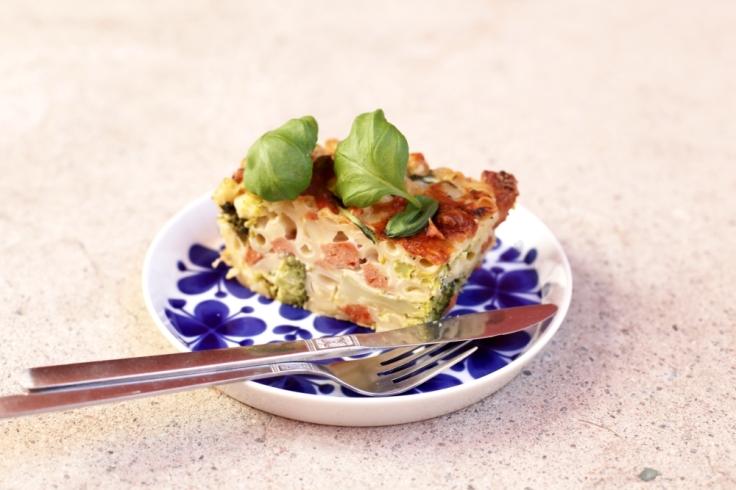 vegetarisk makaronipudding med sojachorizo