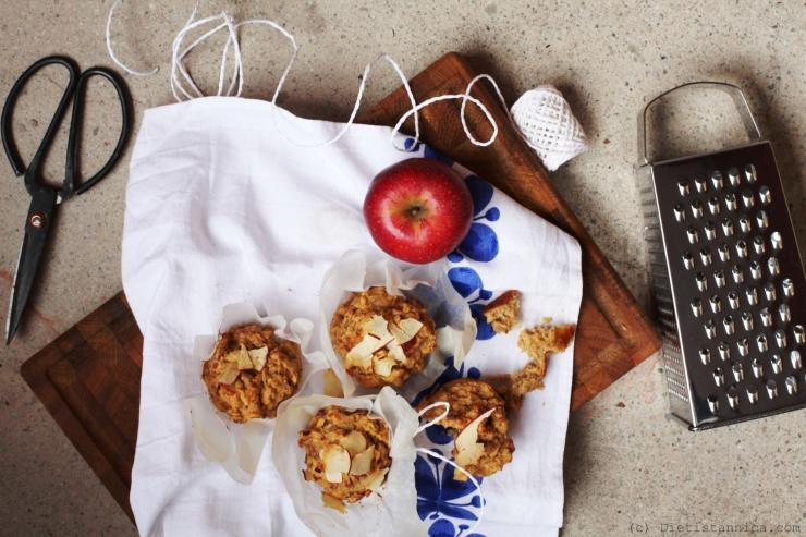 Hälsosamma äppelmuffins med havre och banan 1