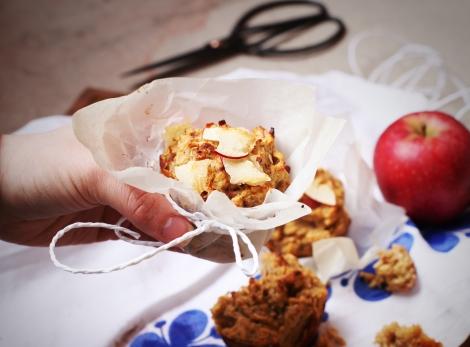 Hälsosamma äppelmuffins med havre och banan 5