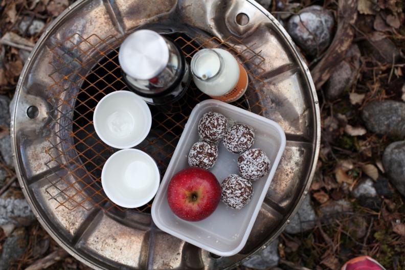 hälsosamma nyttiga chokladbollar utan dadlar med nötter och honung