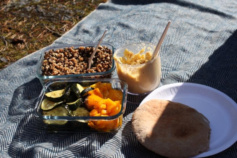 vegetarisk mat på utflykt lida