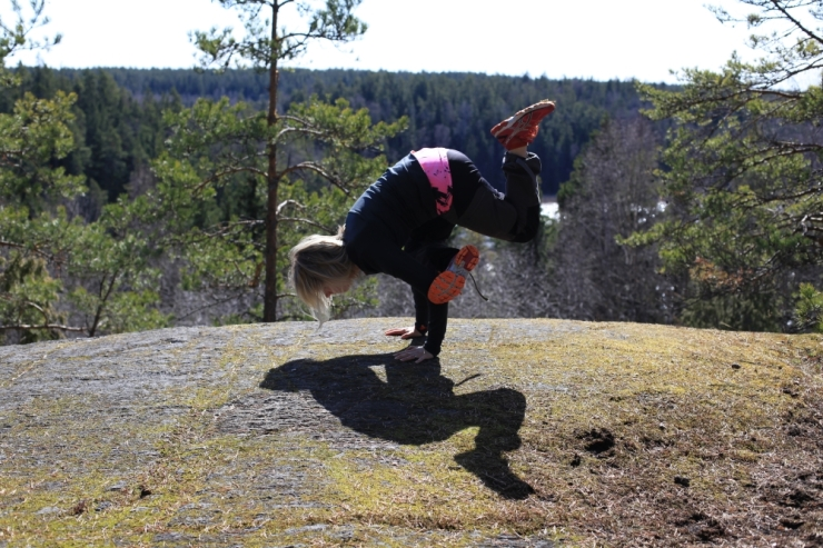 yoga handstand lida naturreservat dietist annica långvall