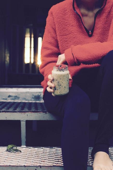 Frukost på bron overnight oats breakfast jar frukost att ta med hälsosam