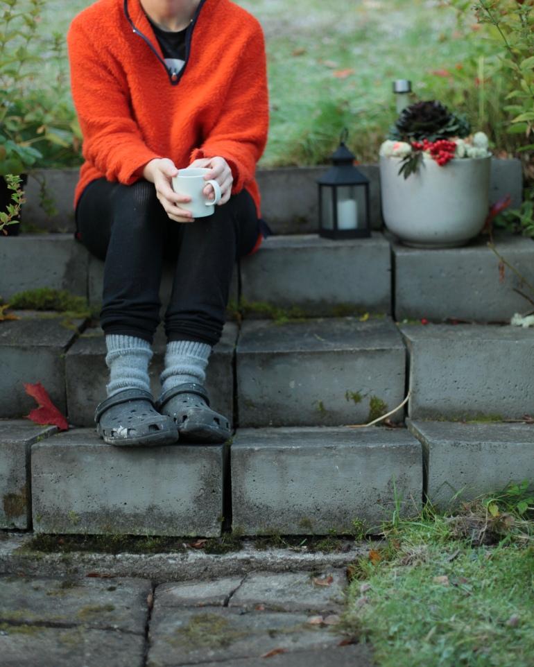 helly hansen dagens outfit kaffe i trädgården